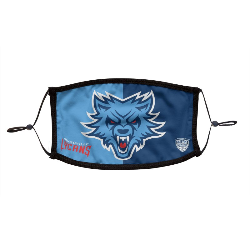 MFL Gnashville Lycans logo Accessories Face Mask by Mutant Football League Team Store