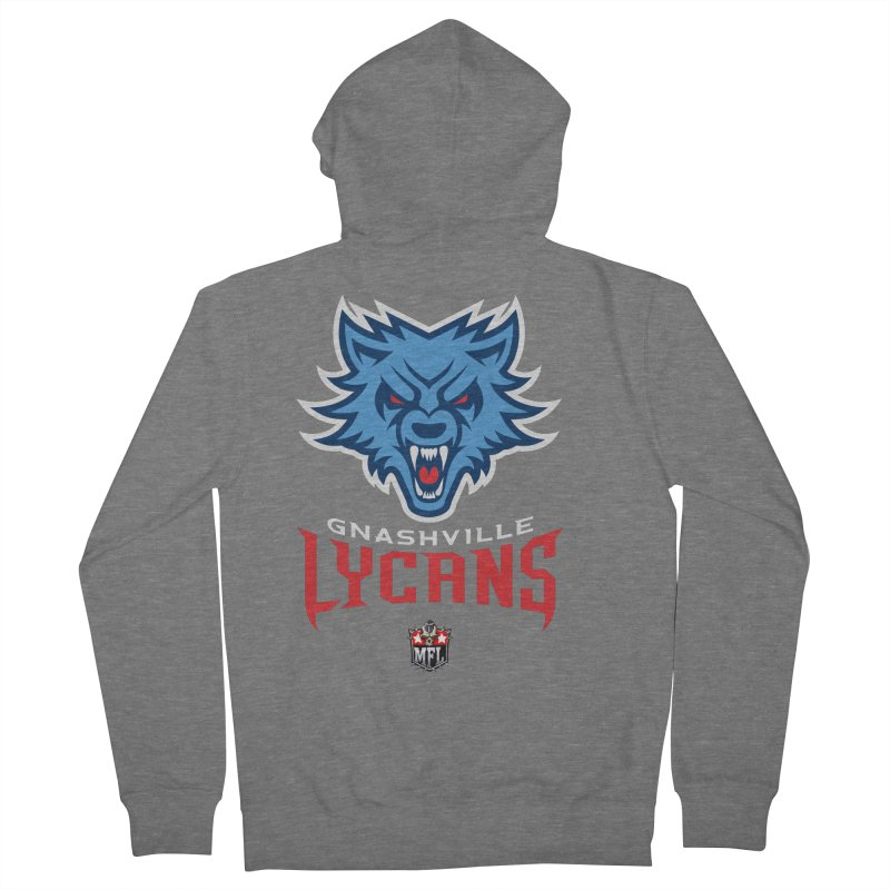 MFL Gnashville Lycans logo Women's Zip-Up Hoody by Mutant Football League Team Store