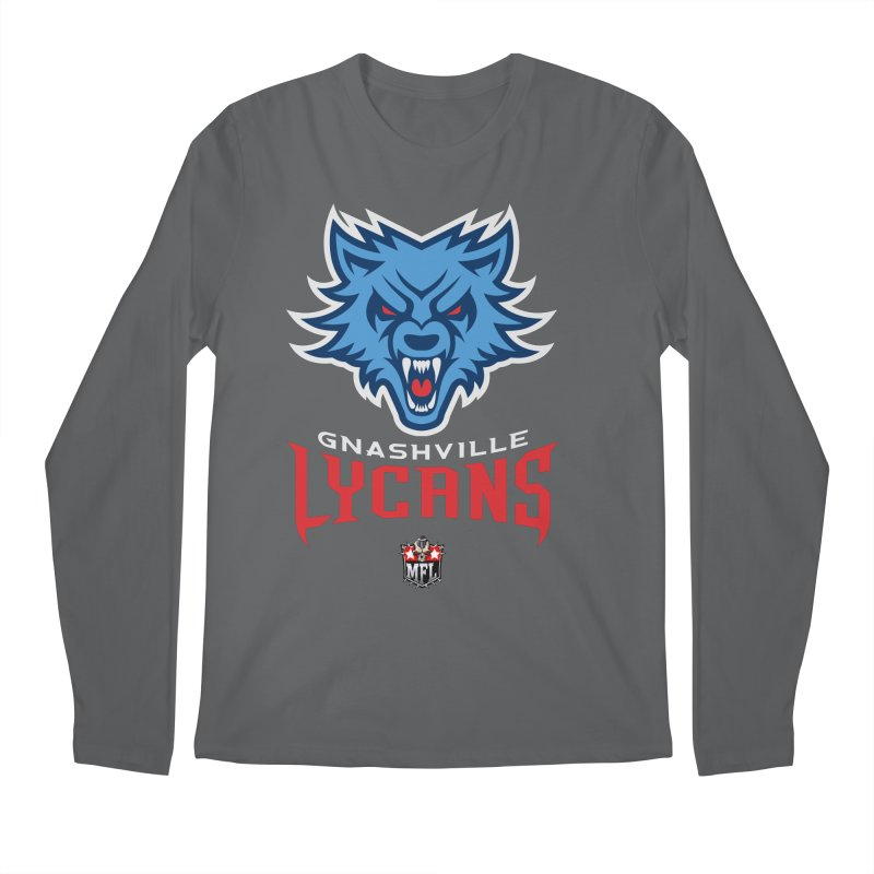 MFL Gnashville Lycans logo Men's Longsleeve T-Shirt by Mutant Football League Team Store