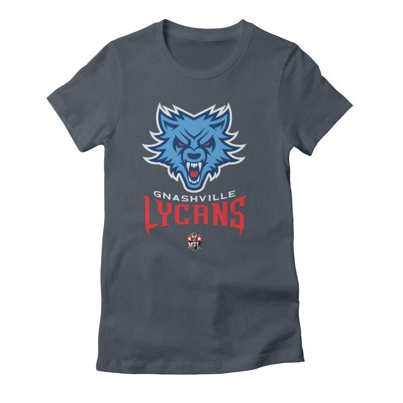 MFL Gnashville Lycans logo Women's T-Shirt by Mutant Football League Team Store