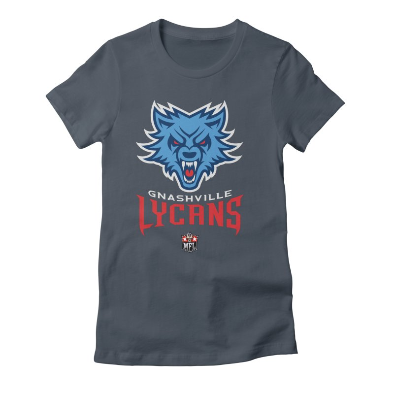MFL Gnashville Lycans logo Women's T-Shirt by Mutant Football League Team Store