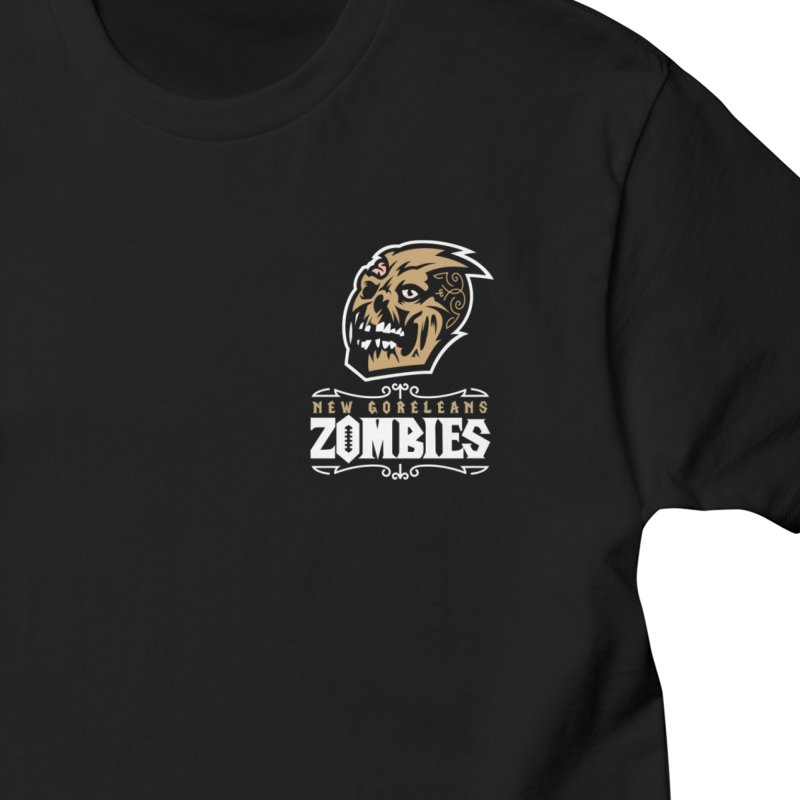MFL New Goreleans Zombies - Michael Whompass Men's T-Shirt by Mutant Football League Team Store