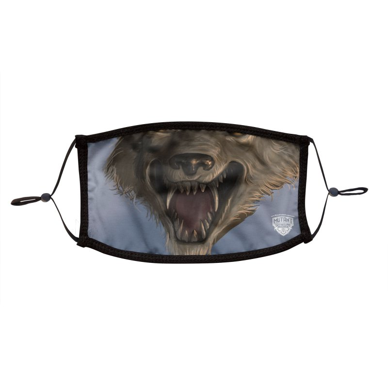 MFL mutant face 4 Accessories Face Mask by Mutant Football League Team Store