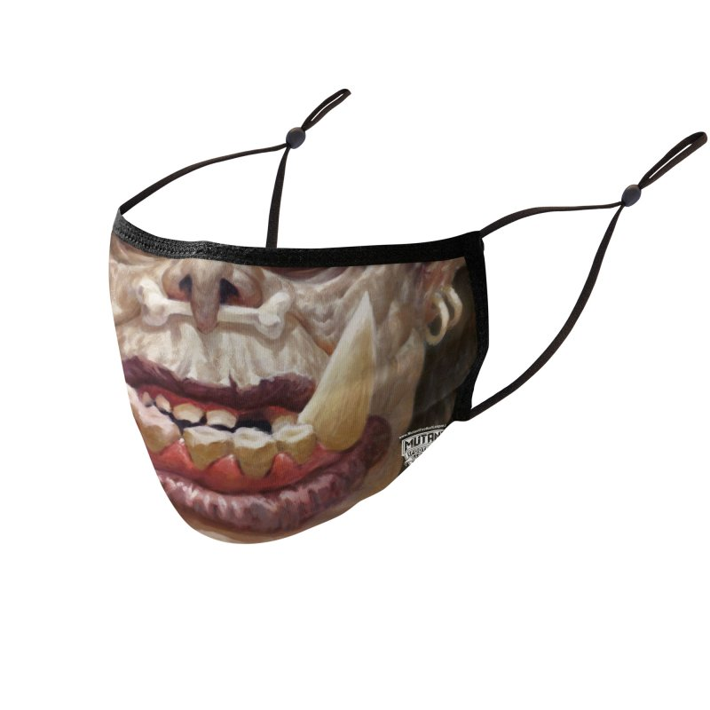 MFL mutant face 6 Accessories Face Mask by Mutant Football League Team Store