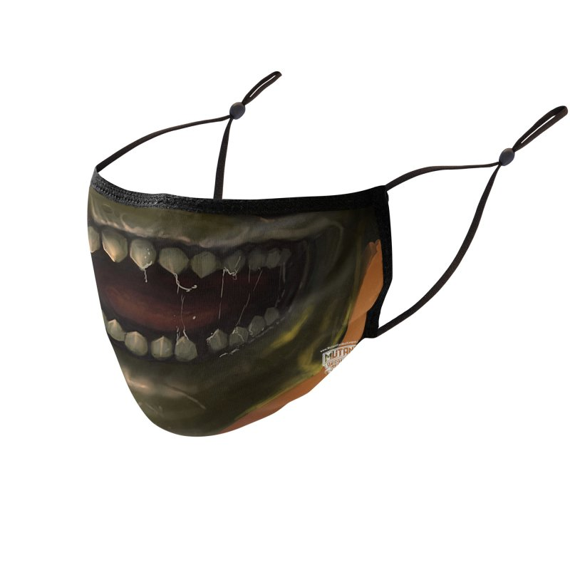 MFL mutant face 8 Accessories Face Mask by Mutant Football League Team Store
