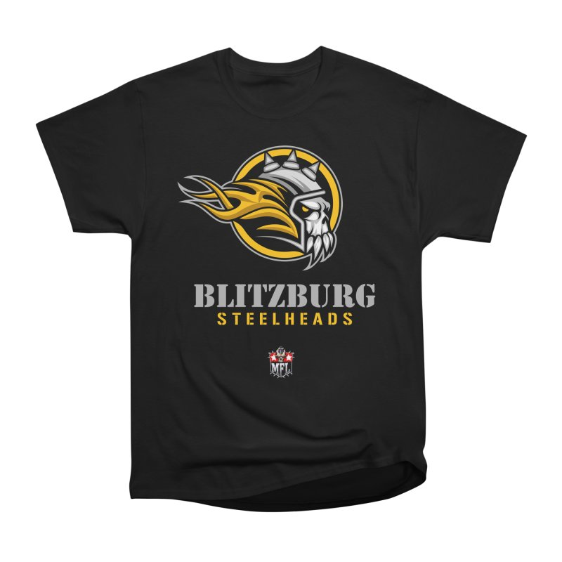 MFL Blitzburg Steelheads logo Men's T-Shirt by Mutant Football League Team Store