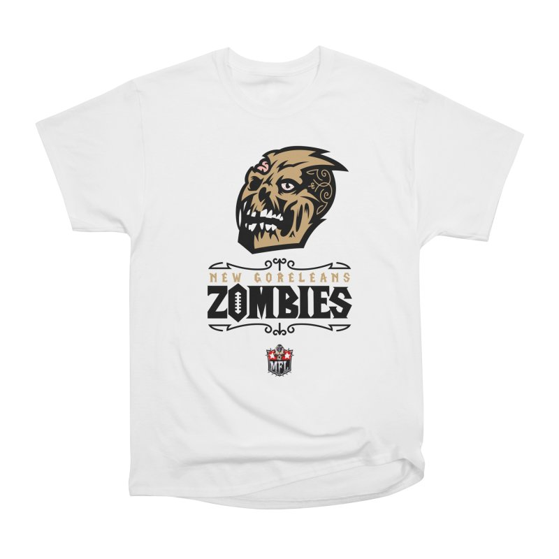 MFL New Goreleans Zombies logo Men's T-Shirt by Mutant Football League Team Store