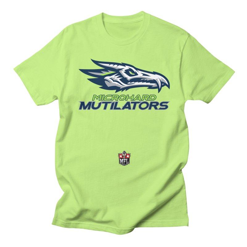 MFL Microhard Mutilators logo Men's T-Shirt by Mutant Football League Team Store