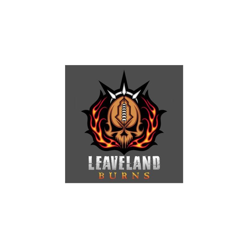 MFL Leaveland Burns logo Men's T-Shirt by Mutant Football League Team Store