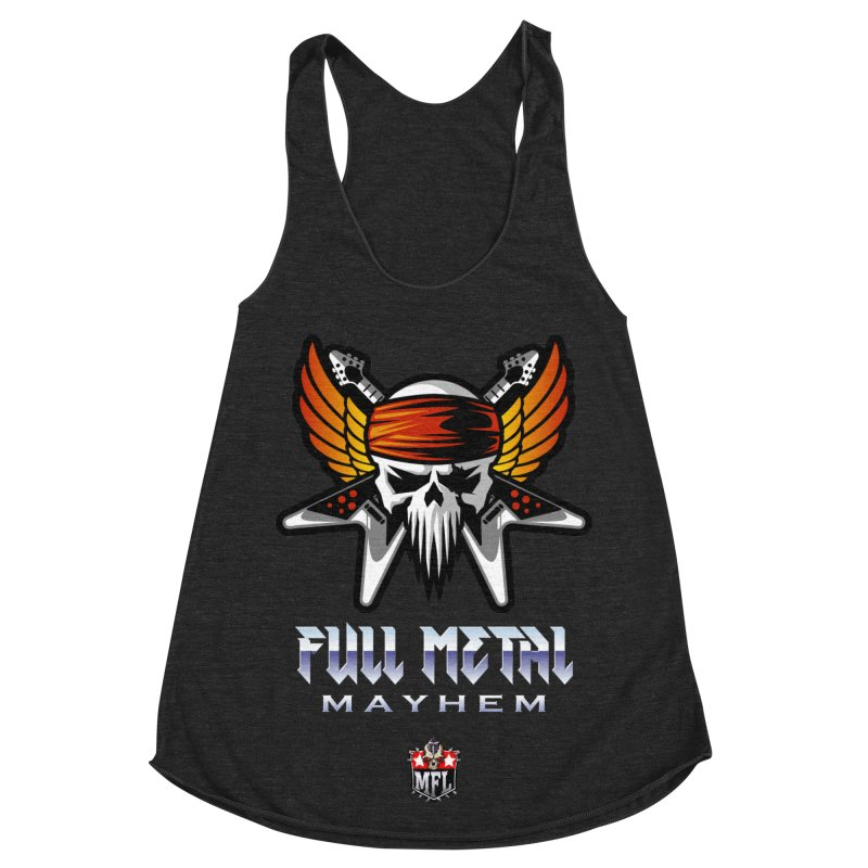 MFL Full Metal Mayhem apparel Women's Racerback Triblend Tank by Mutant Football League Team Store