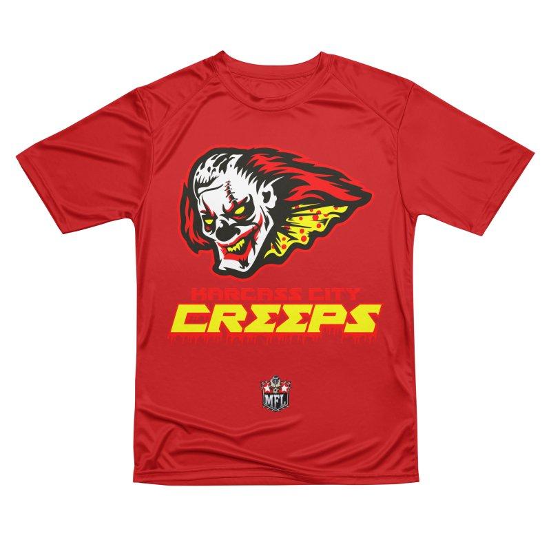 MFL Karcass City Creeps apparel Women's Performance Unisex T-Shirt by Mutant Football League Team Store