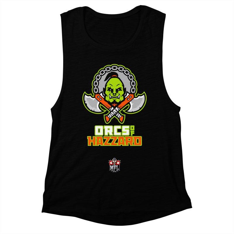 MFL Orcs of Hazzard apparel Women's Muscle Tank by Mutant Football League Team Store