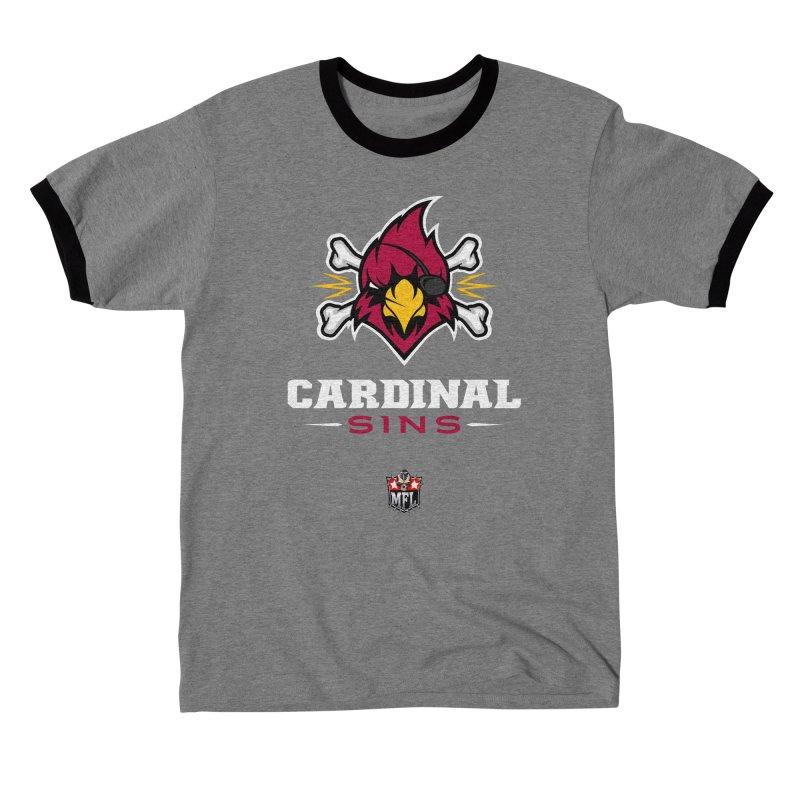 MFL Cardinal Sins logo Men's T-Shirt by Mutant Football League Team Store