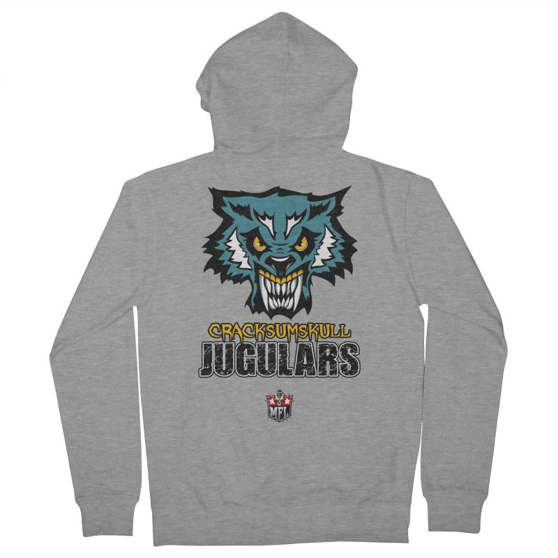 MFL Cracksumskull Jugulars apparel Women's French Terry Zip-Up Hoody by Mutant Football League Team Store
