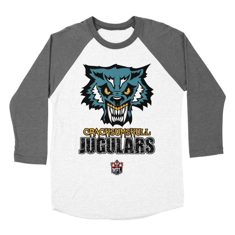MFL Cracksumskull Jugulars apparel Women's Baseball Triblend Longsleeve T-Shirt by Mutant Football League Team Store