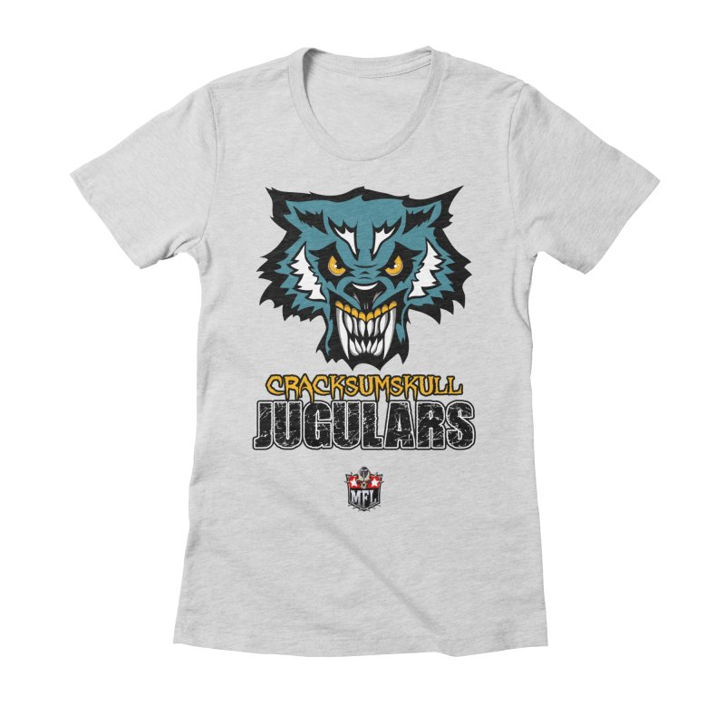 MFL Cracksumskull Jugulars apparel Women's Fitted T-Shirt by Mutant Football League Team Store