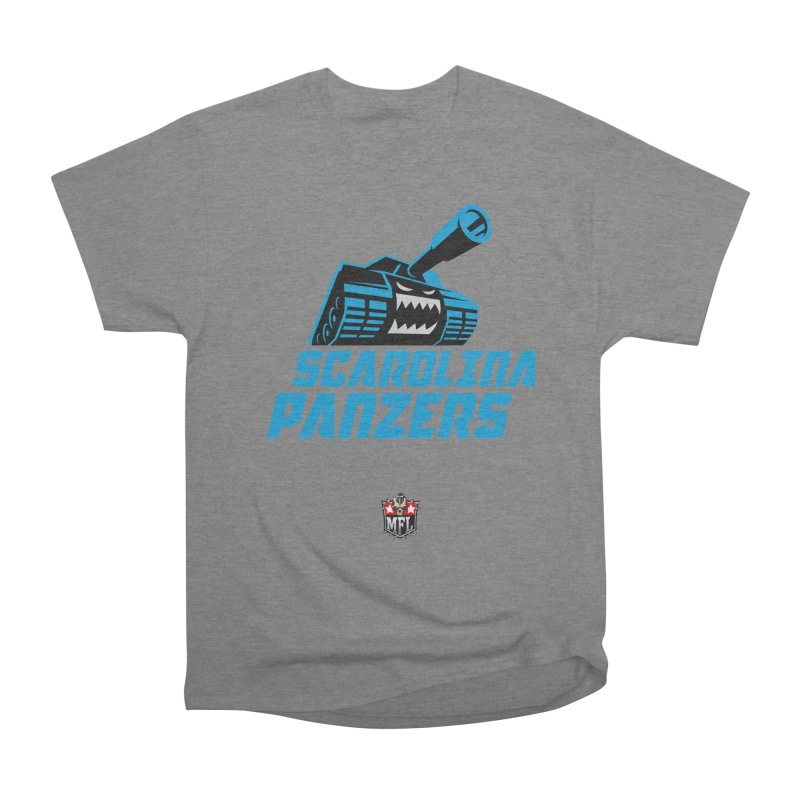 MFL Scarolina Panzers apparel Women's Heavyweight Unisex T-Shirt by Mutant Football League Team Store