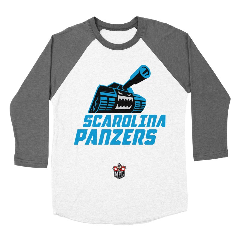 MFL Scarolina Panzers apparel Men's Baseball Triblend Longsleeve T-Shirt by Mutant Football League Team Store