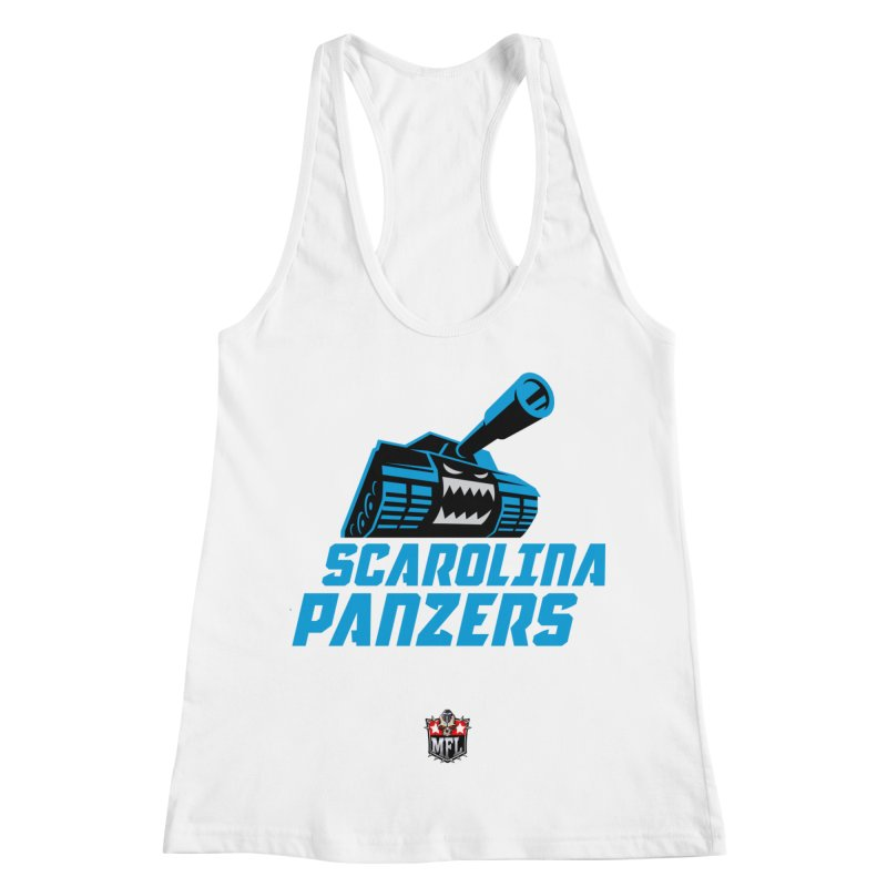 MFL Scarolina Panzers apparel Women's Racerback Tank by Mutant Football League Team Store