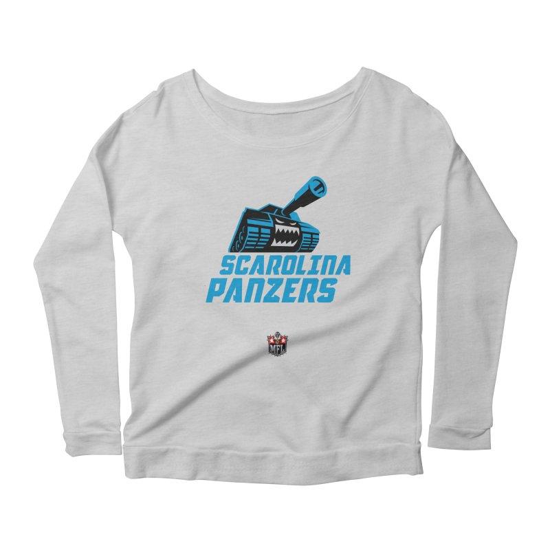 MFL Scarolina Panzers apparel Women's Scoop Neck Longsleeve T-Shirt by Mutant Football League Team Store