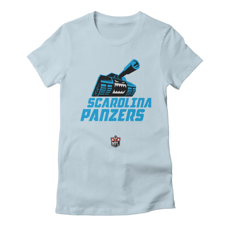MFL Scarolina Panzers apparel Women's Fitted T-Shirt by Mutant Football League Team Store