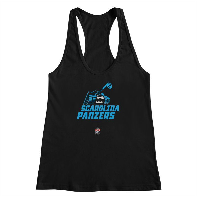 MFL Scarolina Panzers apparel Women's Racerback Tank by Mutant Football League Team Store