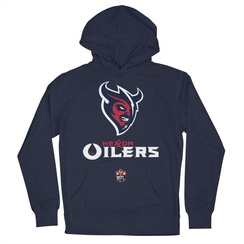 MFL Hexxon Oilers apparel Men's French Terry Pullover Hoody by Mutant Football League Team Store
