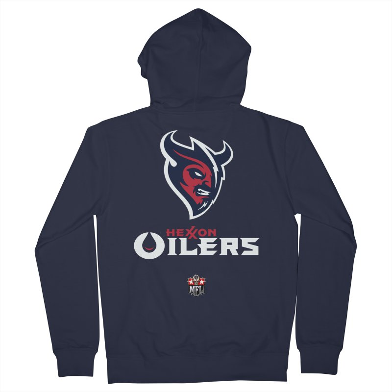 MFL Hexxon Oilers apparel Women's French Terry Zip-Up Hoody by Mutant Football League Team Store