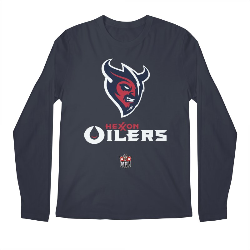 MFL Hexxon Oilers apparel Men's Regular Longsleeve T-Shirt by Mutant Football League Team Store