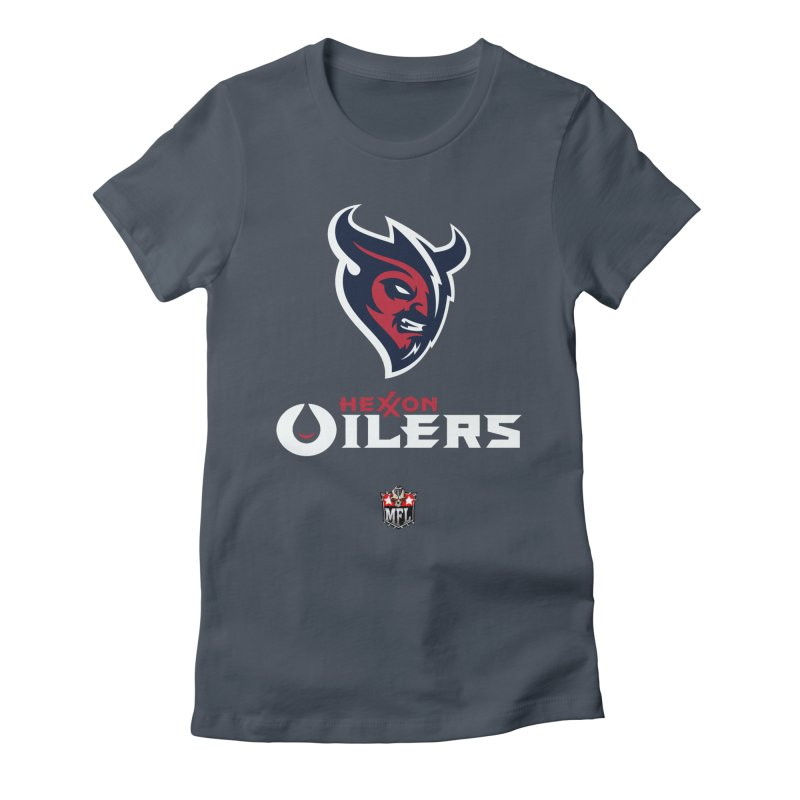 MFL Hexxon Oilers apparel Women's Fitted T-Shirt by Mutant Football League Team Store