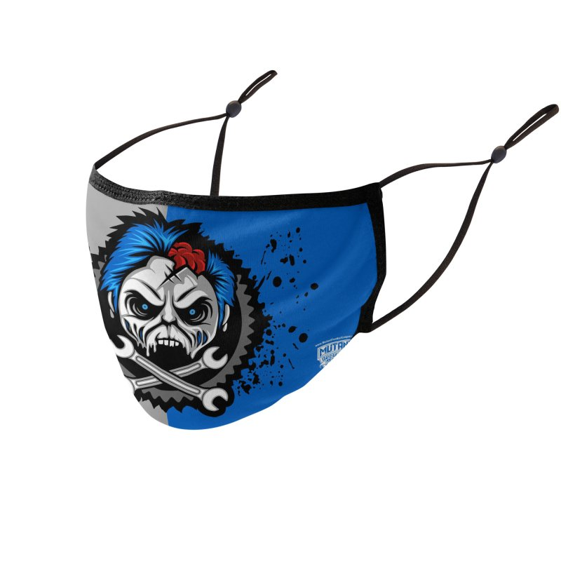 MFL Motor City Maniacs logo Accessories Face Mask by Mutant Football League Team Store