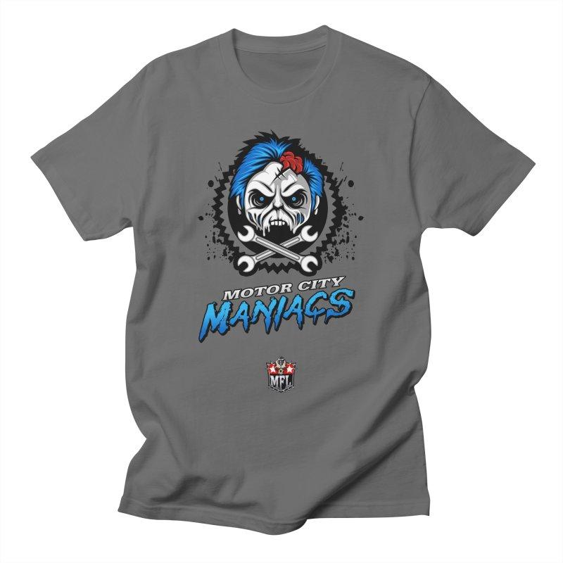 MFL Motor City Maniacs logo Men's T-Shirt by Mutant Football League Team Store