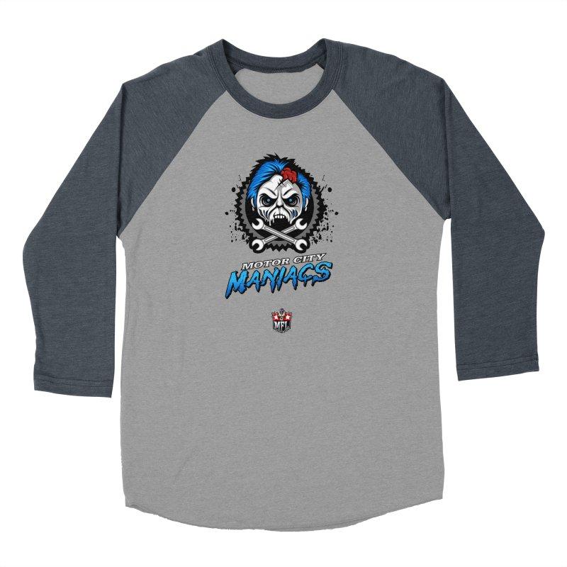 MFL Motor City Maniacs logo Women's Longsleeve T-Shirt by Mutant Football League Team Store
