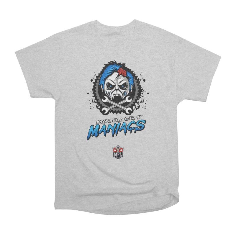 MFL Motor City Maniacs apparel Men's Heavyweight T-Shirt by Mutant Football League Team Store