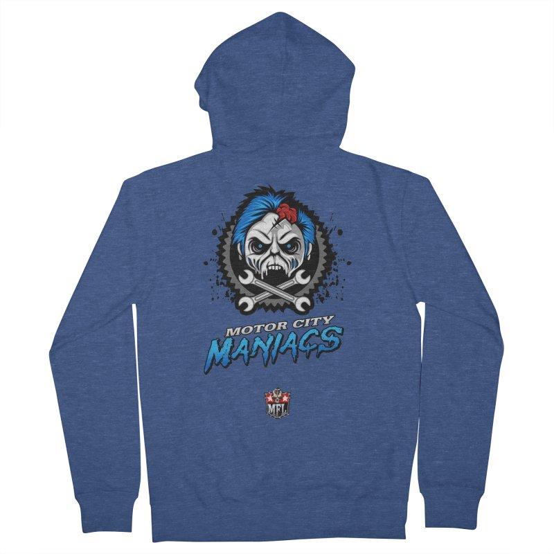 MFL Motor City Maniacs logo Women's Zip-Up Hoody by Mutant Football League Team Store