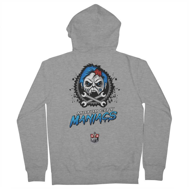 MFL Motor City Maniacs apparel Men's French Terry Zip-Up Hoody by Mutant Football League Team Store