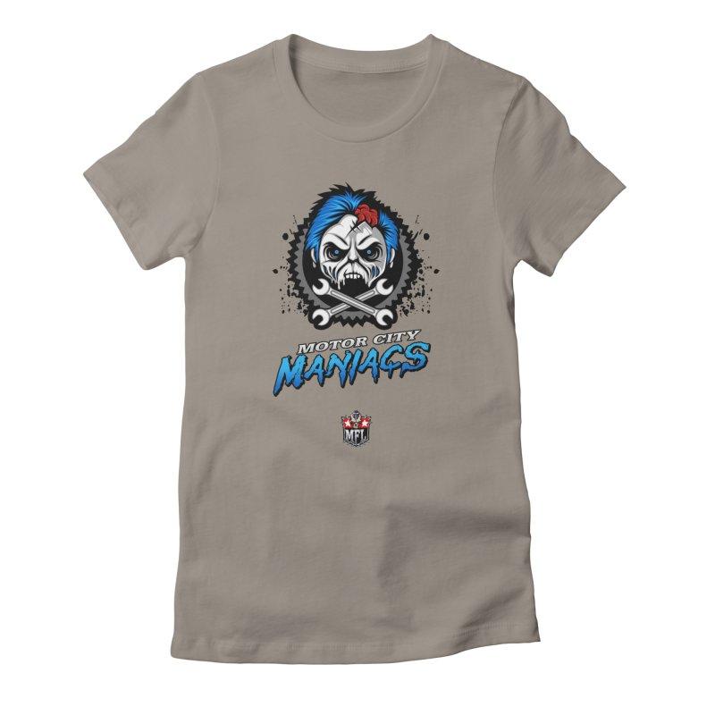 MFL Motor City Maniacs logo Women's T-Shirt by Mutant Football League Team Store