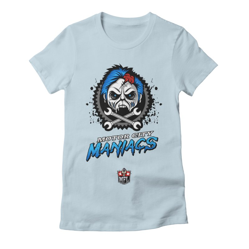 MFL Motor City Maniacs apparel Women's Fitted T-Shirt by Mutant Football League Team Store