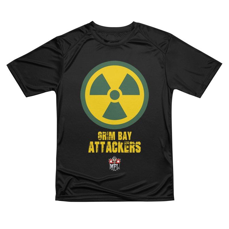 MFL Grim Bay Attackers logo Men's T-Shirt by Mutant Football League Team Store
