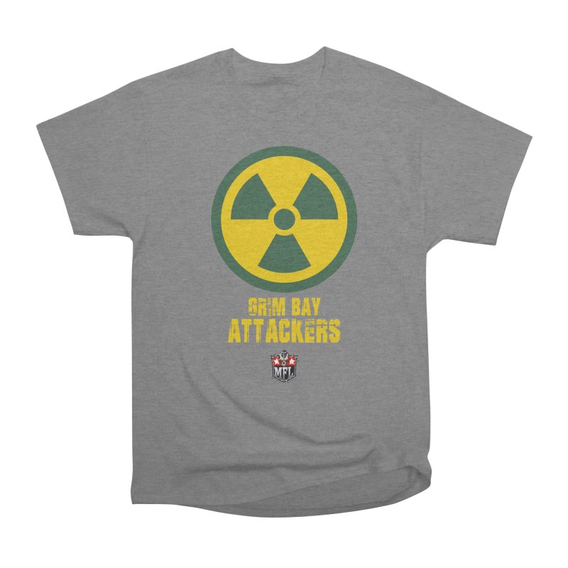 MFL Grim Bay Attackers apparel Women's Heavyweight Unisex T-Shirt by Mutant Football League Team Store