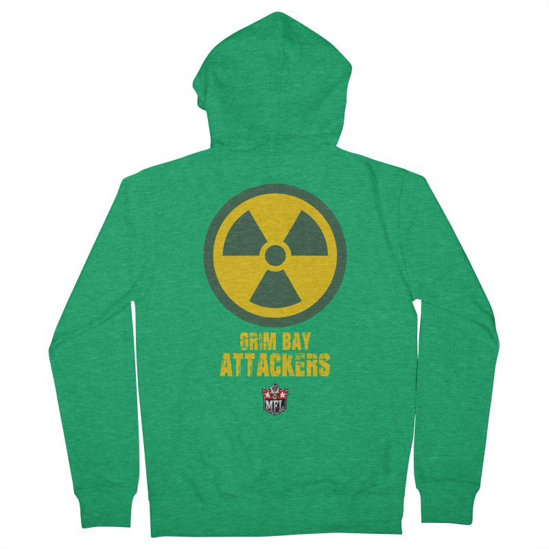 MFL Grim Bay Attackers logo Women's Zip-Up Hoody by Mutant Football League Team Store
