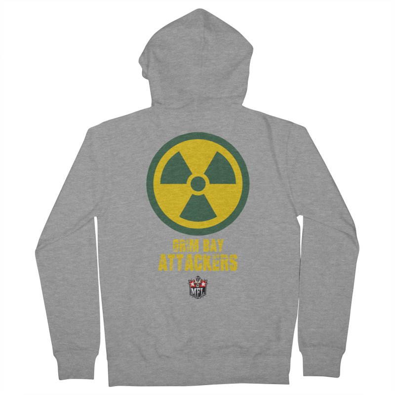 MFL Grim Bay Attackers apparel Women's French Terry Zip-Up Hoody by Mutant Football League Team Store