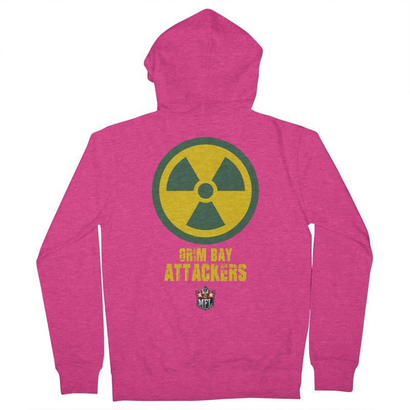 MFL Grim Bay Attackers logo Women's Zip-Up Hoody by Mutant Football League Team Store