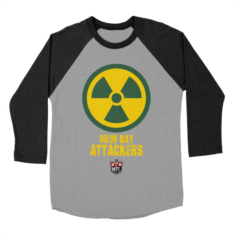 MFL Grim Bay Attackers apparel Men's Baseball Triblend Longsleeve T-Shirt by Mutant Football League Team Store