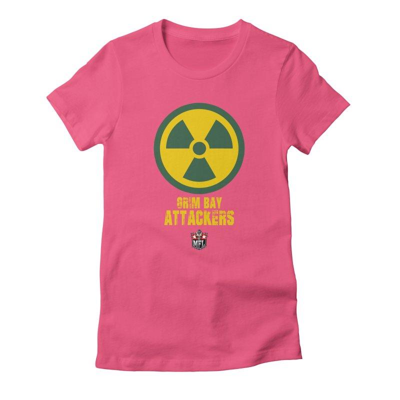 MFL Grim Bay Attackers logo Women's T-Shirt by Mutant Football League Team Store