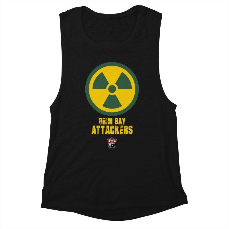 MFL Grim Bay Attackers logo Women's Tank by Mutant Football League Team Store