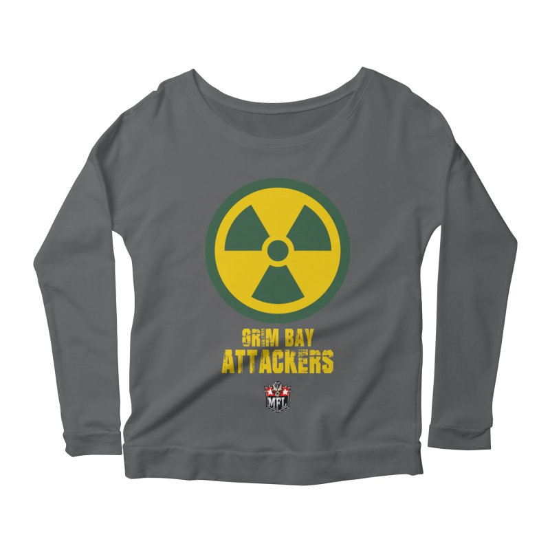 MFL Grim Bay Attackers apparel Women's Scoop Neck Longsleeve T-Shirt by Mutant Football League Team Store