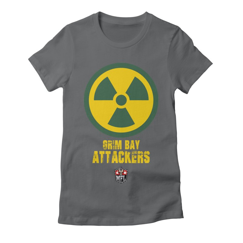 MFL Grim Bay Attackers apparel Women's Fitted T-Shirt by Mutant Football League Team Store