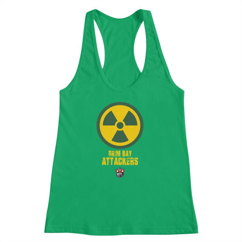 MFL Grim Bay Attackers apparel Women's Racerback Tank by Mutant Football League Team Store