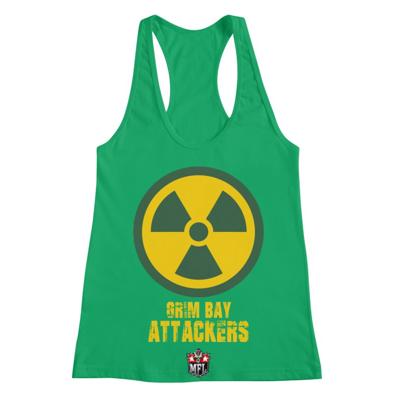 MFL Grim Bay Attackers apparel Women's Racerback Tank by Mutant Football League Team Store